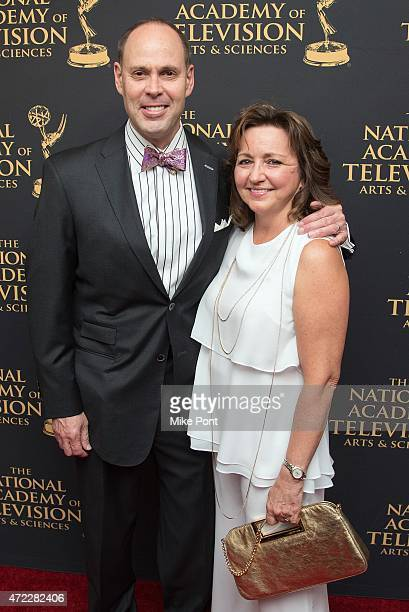 Sportscaster Ernie Johnson and Cheryl Johnson attend the 2015 Sports Emmy Awards at Jazz at Lincoln Center on May 5 2015 in New York City