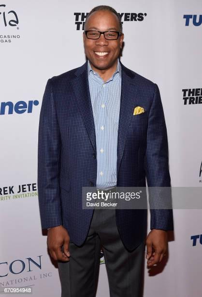 Sportscaster Jay Harris attends the 2017 Derek Jeter Celebrity Invitational gala at the Aria Resort Casino on April 20 2017 in Las Vegas Nevada