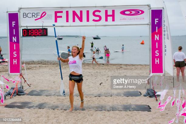 Sportscaster Jill Martin attends the 2018 Hamptons Paddle and Party for Pink on August 4 2018 in Sag Harbor New York
