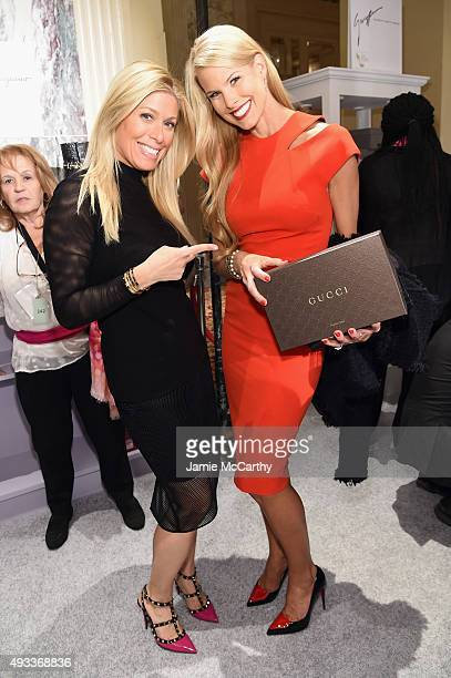 Sportscaster Jill Martin Beth Ostrosky Stern attend QVC presents FFANY Shoes on Sale on October 19 2015 at the Waldorf Astoria Hotel in New York City