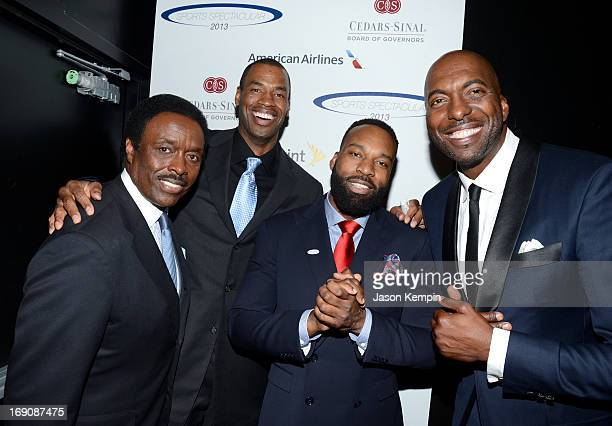 Sportscaster Jim Hill and pro basketball players honoree Jason Collins and Baron Davis and retired pro basket ball player and radio host John Salley...
