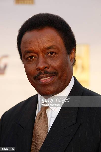Sportscaster Jim Hill arrives at the 2008 KCET Visionary Award Gala held on May 27 2008 at the LA Live Event Deck in Los Angeles California
