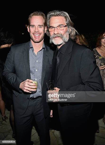 Sportscaster Joe Buck and host Kurt Russell attend Goldie Hawn's inaugural Love In For Kids benefiting the Hawn Foundation's MindUp program...