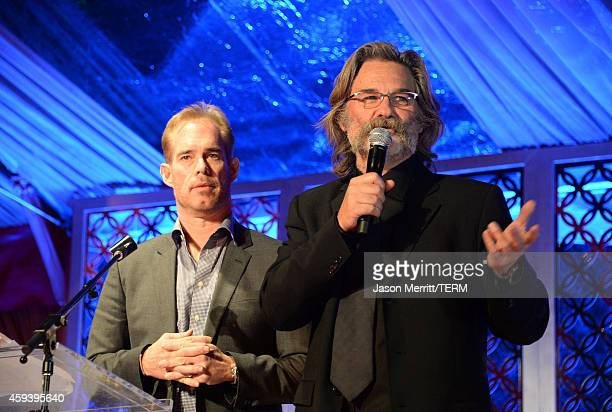 Sportscaster Joe Buck and host Kurt Russell speak at Goldie Hawn's inaugural Love In For Kids benefiting the Hawn Foundation's MindUp program...