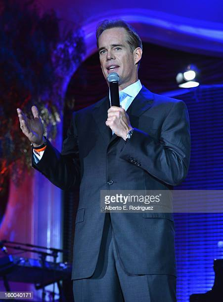 Sportscaster Joe Buck speaks at The Voice Health Institute's Raise Your Voice benefit at the Beverly Hills Hotel on January 24 2013 in Beverly Hills...