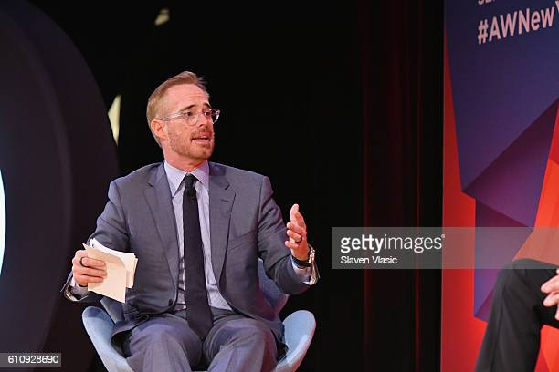 Sportscaster Joe Buck speaks onstage at the Fox NFL Town Hall panel at The Town Hall during 2016 Advertising Week New York on September 28 2016 in...