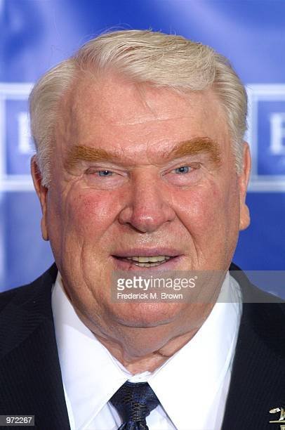 Sportscaster John Madden poses backstage during the 10th Annual ESPY Awards at the Kodak Theatre on July 10, 2002 in Hollywood, California.