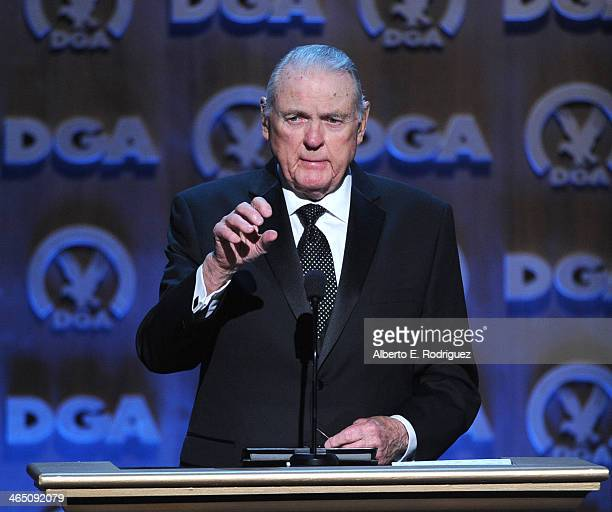 Sportscaster Keith Jackson speaks onstage at the 66th Annual Directors Guild Of America Awards held at the Hyatt Regency Century Plaza on January 25...