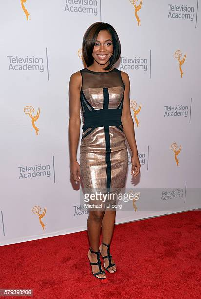 Sportscaster Kristina Pink attends the 68th Los Angeles Area Emmy Awards at Television Academy on July 23 2016 in Los Angeles California