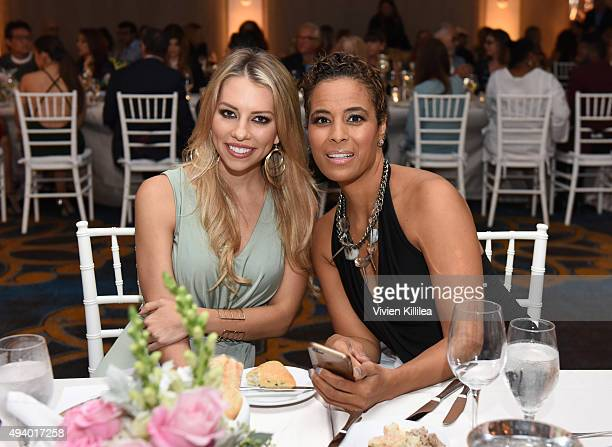 Sportscaster Lindsay McCormick and tv personality Daphne Wayans attend the Pia Gladys Perey Spring/Summer 2016 Fashion Show at Sofitel Hotel on...