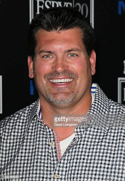 Sportscaster Mark Schlereth attends ESPN Magazine's celebration of its 4th annual Body Issue at the Belasco Theater on July 10 2012 in Los Angeles...