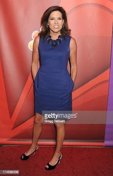 Sportscaster Michele Tafoya arrives at the 2013 NBC Television Critics Association's Summer Press Tour at The Beverly Hilton Hotel on July 27 2013 in...