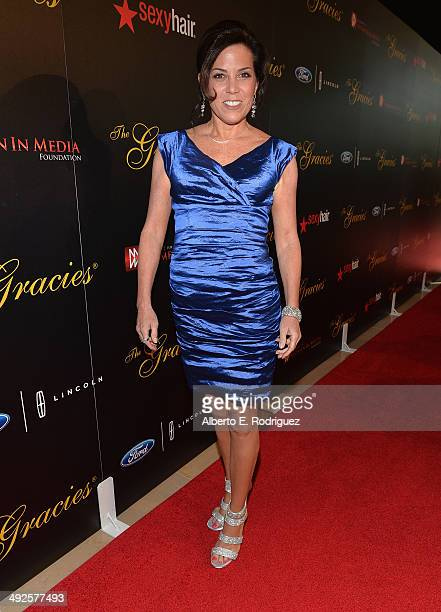 Sportscaster Michele Tafoya arrives to the 39th Gracie Awards Gala at The Beverly Hilton Hotel on May 20 2014 in Beverly Hills California