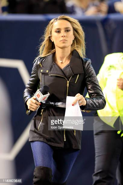 Sportscaster Molly McGrath during the college football game between the North Carolina State Wolfpack and the Georgia Tech Yellow Jackets on November...