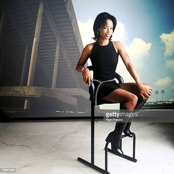 Sportscaster Pam Oliver photographed on May 6 1996 in Houston TX