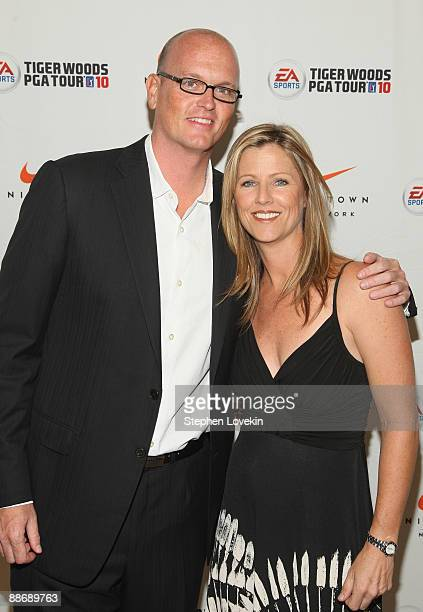 Sportscaster Scott Van Pelt and Kelly Tilghman attend EA SPORTS Tiger Woods PGA TOUR 10 Party at NikeTown on June 25 2009 in New York City