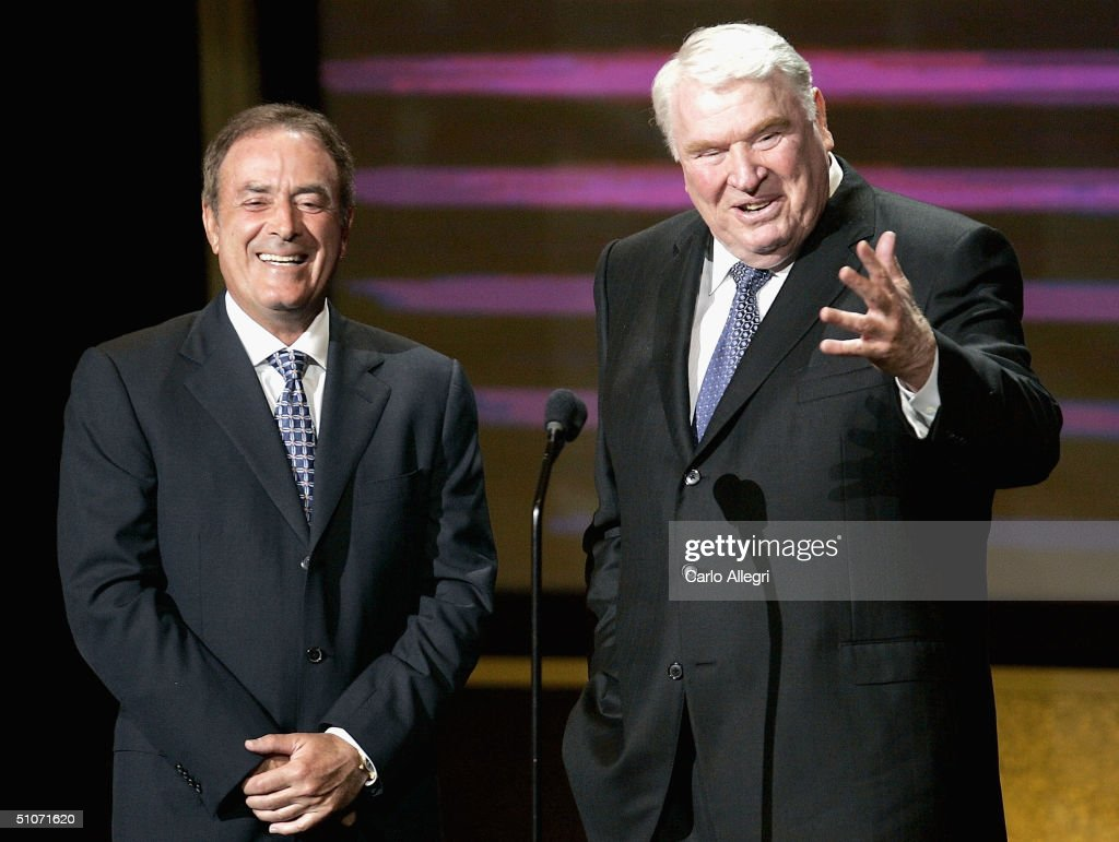 Sportscasters Al Michaels and John Madden onstage at the 12th Annual ESPY Awards held at the Kodak Theatre on July 14, 2004 in Hollywood, California. This year's ESPY's will air Sunday, July 16th on ESPN beginning 9 PM