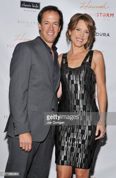 Sportscasters Dan Hicks and Hannah Storm attend the Hannah Storm Foundation celebrity fundraiser at Stone Rose Lounge on September 27 2011 in New...