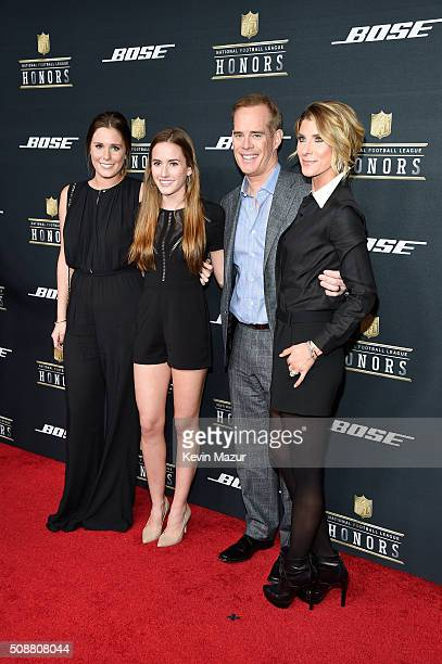 Sportscasters Joe Buck Michelle Beisner and guests attend the 5th annual NFL Honors at Bill Graham Civic Auditorium on February 6 2016 in San...