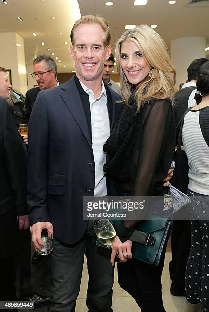 Sportscastor Joe Buck and Michelle Beisner attend the Saks Fifth Avenue Charitable Shopping Event To Benefit The Big Daddy Foundation on January 29...
