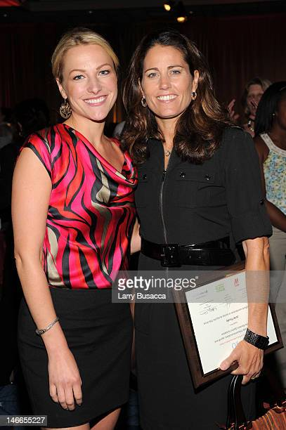 SportsCenter anchor Lindsay Czarniak and Julie Foudy Sports Leadership Academy founder Julie Foudy pose at the 40 For 40 Event 40 Years of Title IX...