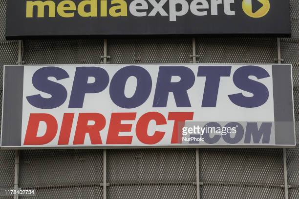 UK SportsDirectcom store logo is seen in Gdansk Poland on 26 October 2019 on the Metropolis shopping mall wall