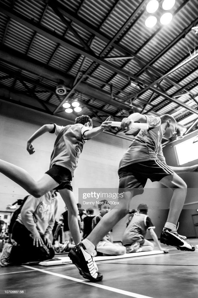 Sportshall Athletics : Foto de stock