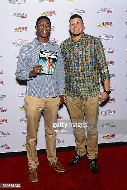 SportsKid of the Year 2015 swimmer and Olympic hopeful Reece Whitley and New York Yankees AllStar Pitcher Dellin Betances attend the Sports...