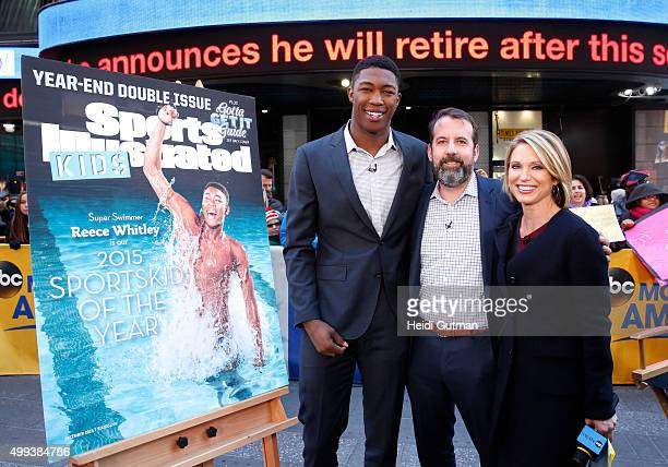 """Sportskid of the year Reece Whitley and Sports Illustrated editor Mark Bechtel are guests on """"Good Morning America,"""" 11/30/15, airing on the Walt..."""