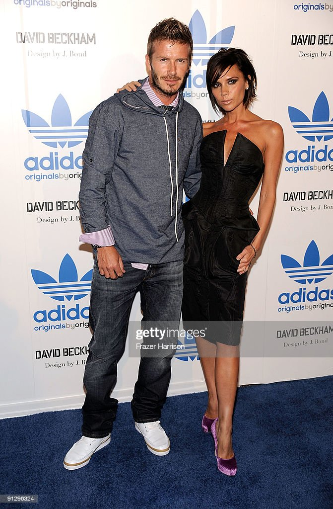 Sportsman David Beckham and Victoria Beckham attend the adidas Originals By Originals David Beckham By James Bond Collection Launch on September 30, 2009 in Los Angeles, California.