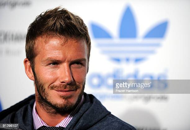 Sportsman David Beckham attends the adidas Originals By Originals David Beckham By James Bond Collection Launch on September 30 2009 in Los Angeles...