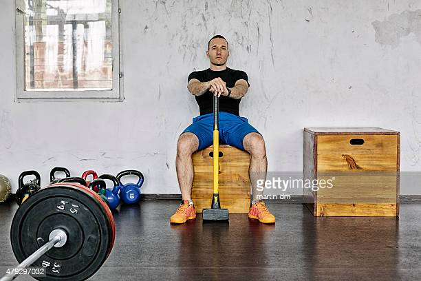 Sportsman in the gym