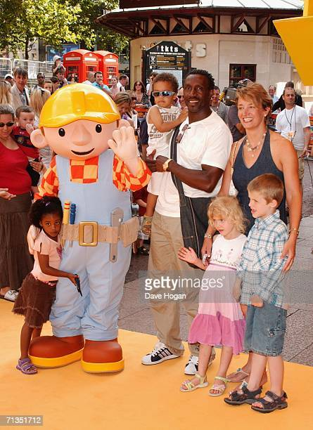 Sportsman Linford Christie and his guests and family arrive at the UK Premiere of Bob The Builder Built To Be Wild at the Odeon West End on July 2...