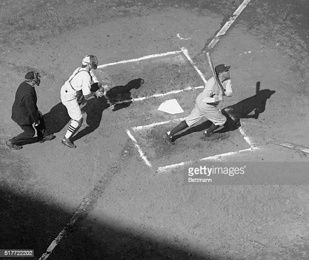 Sportsman Park St Louis vs Yankee World SeriesBabe Ruth knocks home run 1st homer