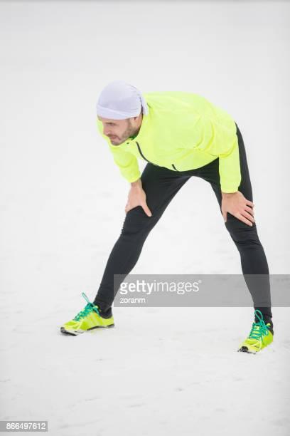 Sportler, die Erholung nach dem laufen