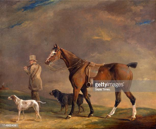 A Sportsman with Shooting Pony and Gun Dogs Sportsman setting out with his horse and gun dogs Edwin W Cooper of Beccles 17851833 British