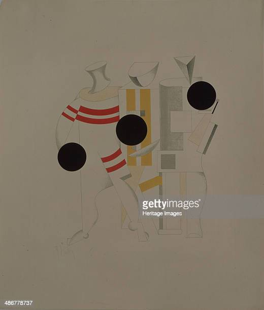 Sportsmen Figurine for the opera Victory over the sun by A Kruchenykh 19201921 Artist Lissitzky El
