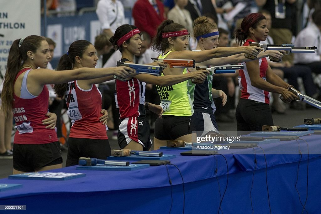 World Championship in modern pentathlon: Celebration ceremony : News Photo