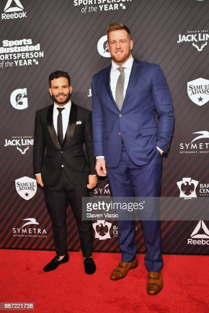 Sportsperson of the Year Jose Altuve and JJ Watt attend SPORTS ILLUSTRATED 2017 Sportsperson of the Year Show on December 5 2017 at Barclays Center...