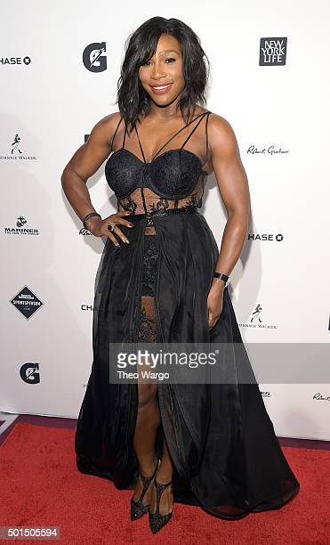 Sportsperson of the Year Serena Williams attends Sports Illustrated Sportsperson of the Year Ceremony 2015 at Pier 60 on December 15 2015 in New York...
