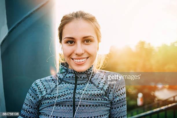 Sportswoman and sunshine