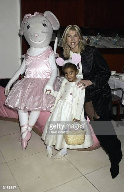 Sportswoman Sharron Davies and her daughter at the Angelina Ballerina Nutcracker gala preparty on December 3rd 2002 at the St Martins hotel in London...