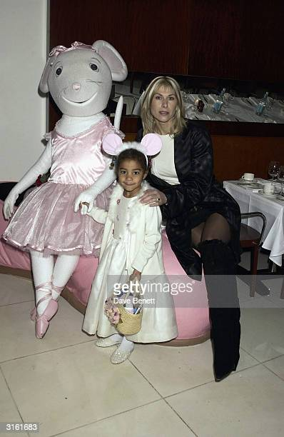 Sportswoman Sharron Davies with her daughter at the Angelina Ballerina Nutcracker gala preparty on December 3rd 2002 at the St Martins hotel in...
