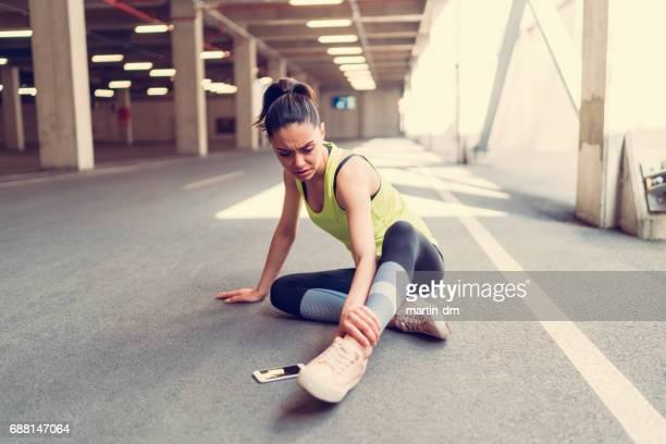 足首の怪我でスポーツウーマン