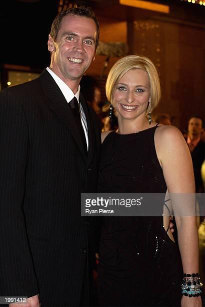 Sportsworld hosts Paul Salmon and Johanna Griggs attend the Australian TV Week Logie Awards May 11 2003 in Melbourne Australia