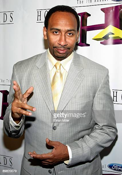 Sportswriter and media personality Stephen A Smith arrives at the seventh annual Hoodie Awards at the Mandalay Bay Events Center August 15 2009 in...