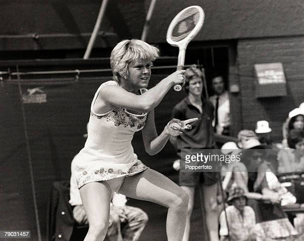 Sport/Tennis All England Lawn Tennis Championships Wimbledon London England 26th June 1976Ladies Singles Great Britain's Sue Barker pictured during...