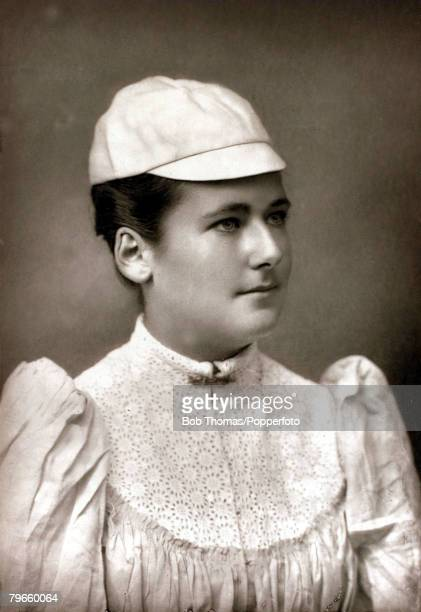 Sport/Tennis circa 1895 Charlotte 'Lottie' Dod Great Britain who became the youngest of the major champions at 15 years 10 months when she won the...