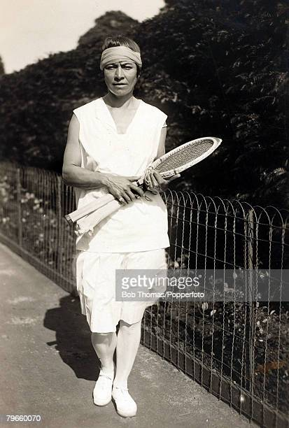Sport/Tennis, circa 1925, Molla Mallory, Norway, who was Ladies Singles finalist at Wimbledon in 1922 losing to Suzanne Lenglen but she had more...