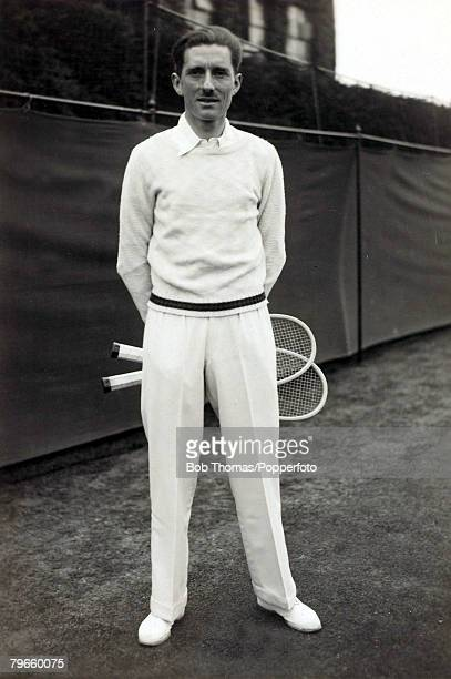 Sport/Tennis circa 1930 Jacques 'Toto' Brugnon France who had a fine record as a Doubles player winning the Wimbledon and French Championships on...